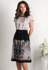 Летнее платье с эффектом юбки и блузки TopDesign Premium PA6