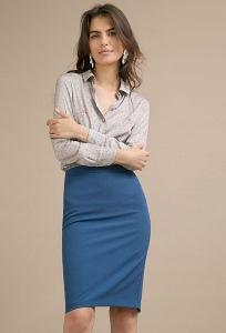 Синяя классическая юбка-карандаш Emka S773/world