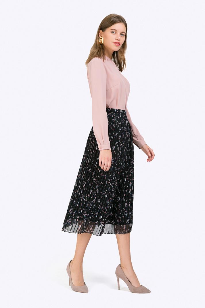 ab33c85ea88 Двухслойная плиссированная юбка-миди Emka S777 pole купить в ...