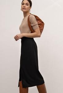 Облегающая юбка-карандаш чёрного цвета Emka S921/gracie