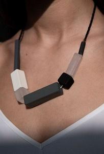 Ожерелье с геометричными бусинами Emka L033/hogan