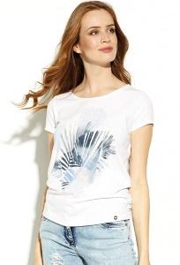 Белая трикотажная блузка Zaps Inkeri
