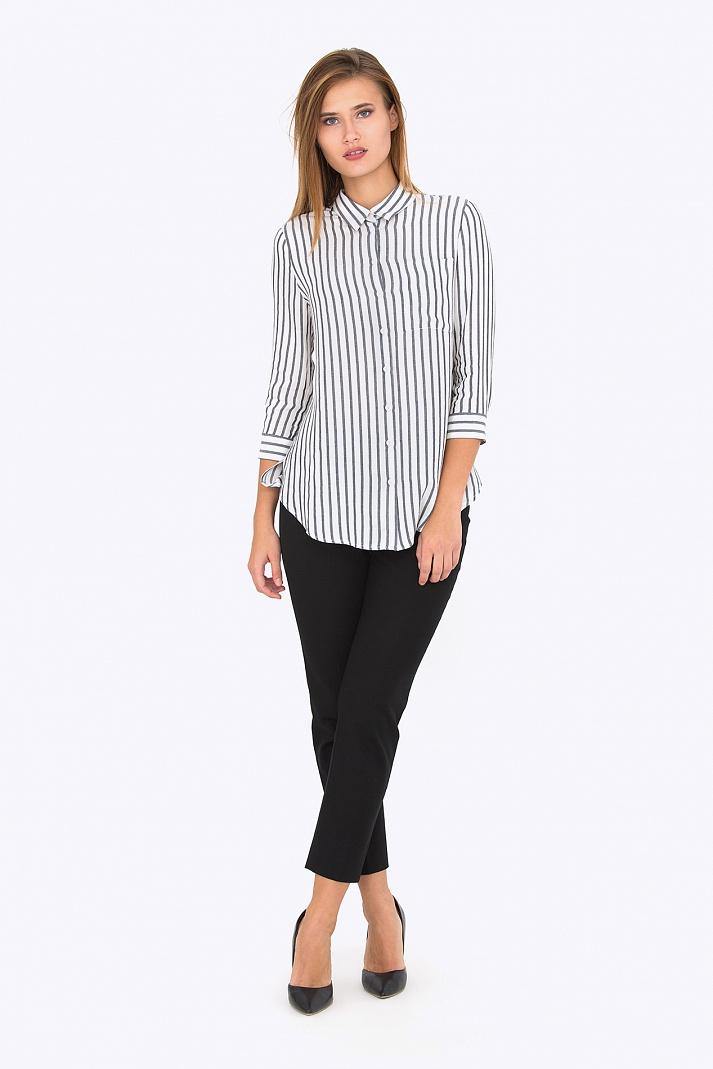 a2643a01030 Женская рубашка в полоску Emka Fashion b 2198 kemina. Увеличить. Чтобы  увеличить изображение