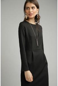 Платье-футляр черного цвета Emka PL923/premiera