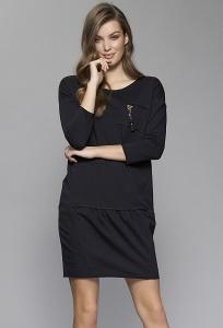 Чёрное трикотажное платье Zaps Lolita
