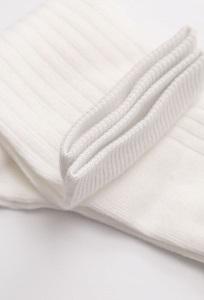 Однотонные белые носки в рубчик Emka V003/eshan