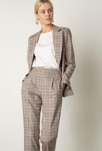 Прямые брюки в стильную клетку Emka D151/barnat