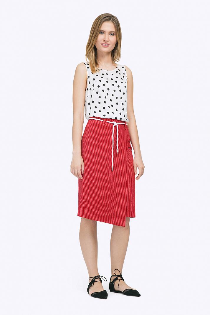 54c604d321be Красная юбка с запАхом Emka S757/luminous купить в интернет-магазине