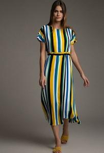 Платье в цветную вертикальную полоску Emka PL895/newkirk