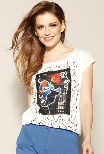 Стильная свободная блуза с принтом Zaps Bambina
