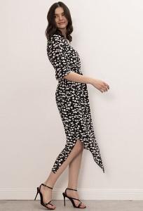 Платье с асимметричным подолом Emka PL1034/clay