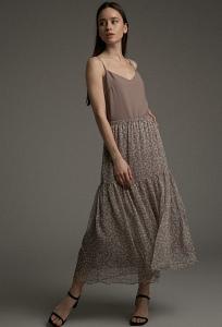 Легкая юбка с мелким цветочным принтом Emka S885/belgian