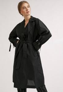 Черный женский плащ без подкладки Emka T019/kosta