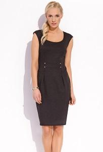 Чёрное летнее платье без рукавом Zaps Kendra
