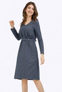 Темно-синее платье А-силуэта Emka PL841/oklahoma