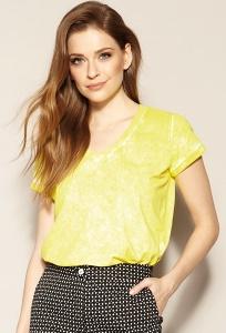 Женская летняя блуза лимонного цвета Zaps Amira