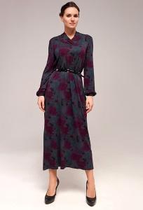 Осеннее длинное платье TopDesign B7 137