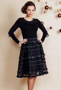 Чёрная юбка TopDesign Festive NВ6 29