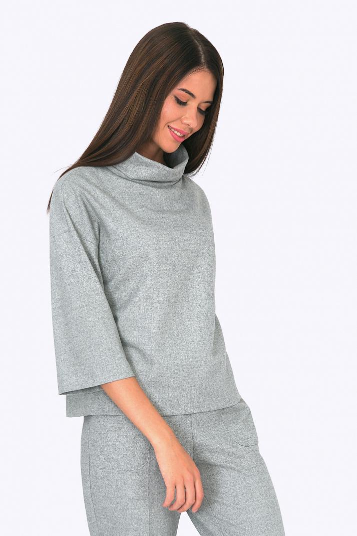 26d1f533615 Женская блузка с воротником-хомут Emka B2268 debra. Увеличить