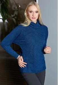 Женский джемпер синего цвета TopDesign B9020