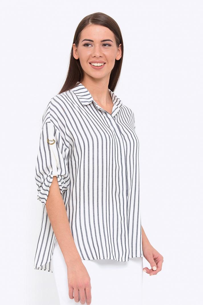 72de402407f Стильная женская рубашка в полоску Emnka b 2214 kemina - купить в ...