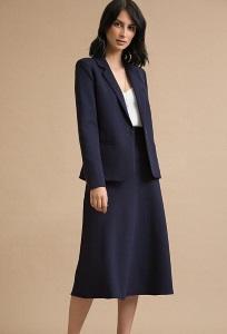 Темно-синяя юбка А силуэта Emka S833/aziza