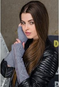 Митенки светло-серого цвета Gulyann Aileen