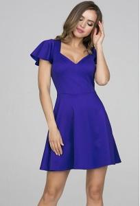 Коктейльное платье насыщенного синего цвета Donna Saggia DSP-319-7t