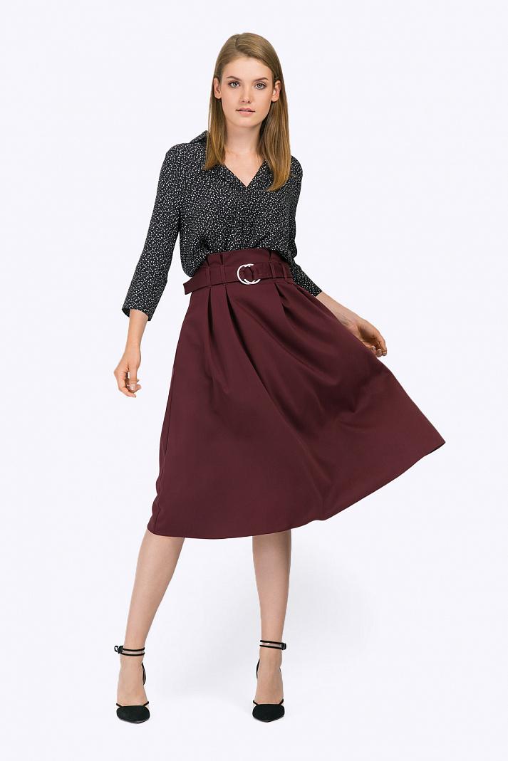 d8336fbbd40 Расклешённая юбка-миди с поясом Emka S702 tanzana купить в интернет ...