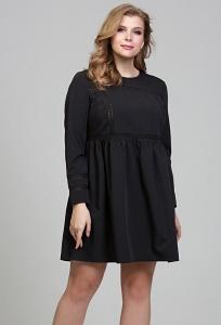 Чёрное коктейльное платье большого размера Donna Saggia DSPB-33-6