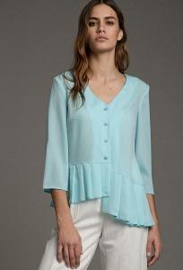 Асимметричная блузка со складками Emka B2539/lyusina