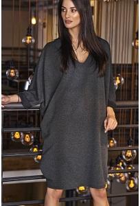 Графитовое платье oversize Niminou NU77
