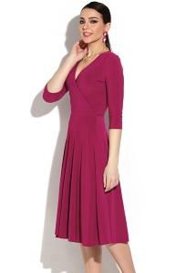 Романтическое платье ягодного цвета Donna Saggia DSP-04-68t