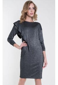 Трикотажное платье с люрексом серого цвета Zaps Tago