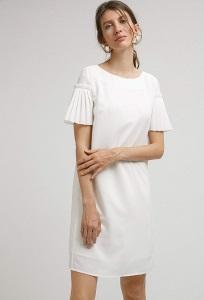 Платье молочного цвета Emka PL907/beatrisa