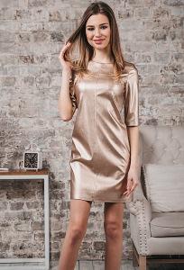 Платье-мини из искусственной кожи Donna Saggia DSP-379-57t