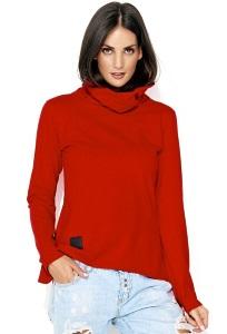 Красная блузка с воротником хомут Numinou NU114