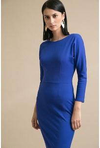 Платье-футляр синего цвета Emka PL947/everlane