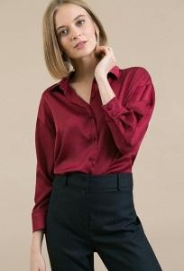 Красная женская рубашка Emka B2480/fibula