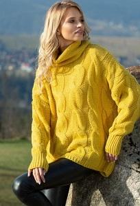 Жёлтый свитер оверсайз Fobya F616