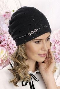 Женская шапка-бандана c камнями Сваровски Willi Lama