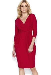 Платье-тюльпан красного цвета Makadamia M463