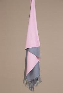 Серо-розовый палантин Emka A001/SCARF