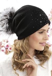 Женская шапка-бандана со стразами Willi Oriza