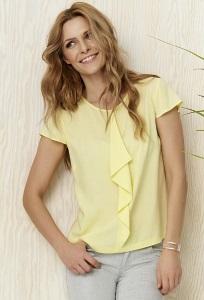 Жёлтая блузка с жабо Sunwear Y30-3-27