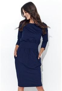 Платье тёмно-синего цвета Nuninou NU107