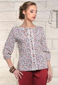 Летняя блузка с рукавом три четверти Issi 171151