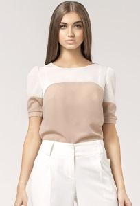 Двухцветная блузка Nife B25