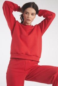 Красные трикотажные брюки Emka D199/bestil