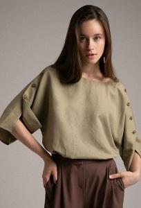 Свободная блуза в стиле кимоно Emka B2526/robin